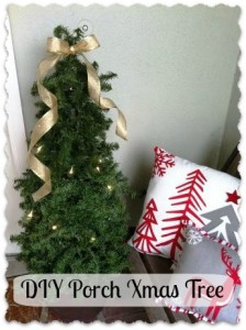 DIY Porch Xmas Tree