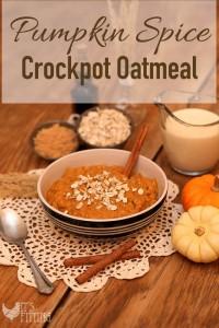 Pumpkin Spice Crockpot Oatmeal