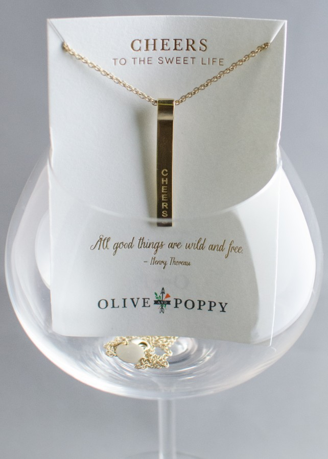 Olive and Poppy CHEERS Necklace