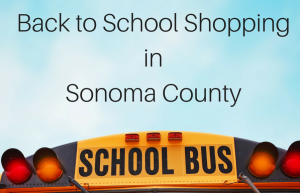 back to school shopping sonoma county